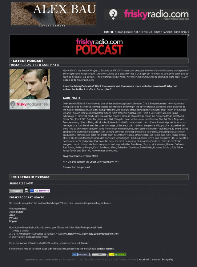 friskyRadio-Podcast-GareMatK